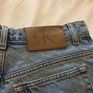 Calvin Klein Vintage High Rise Mom Jean Shorts